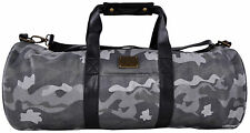 Pink Dolphin Duffle Bag Genuine Leather Wool Arctic Gray Adjustable Authentic