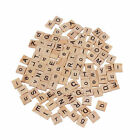 100 Wooden Alphabet Scrabble Tiles Black Letters & Numbers For Crafts Wood #h