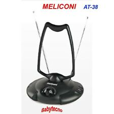 mini Antenna TV MELICONI AT-38 VHF-UHF FM Digitale Terrestre Amplificata SEGNALE