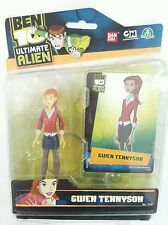 Action Figure Ben 10 Gwen Tennyson  Bandai Cartoon Network Fluo Alieni 10Cm Girl