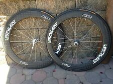 Wheelset, Road, 700C, 60mm, Full Carbon, Tubular, Hand-built in USA