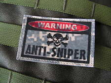 "Patch velcro ..:: WARNING ANTI-SNIPER ::.. AIRSOFT PAINTBALL US "" ACU DIGITAL """