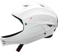 Ozone Nutshell Helmet White with Chin Guard for Paragliding, Hang Gliding & more