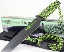 United M48 Apocalypse Zombie Tanto Combat Fighter Knife + Paracord Bracelet