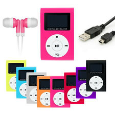 Mp3 Player Display Pink Clip Aluminium LCD Micro SD bis 16GB + Zubehörpaket I