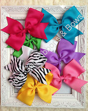 "1- 7"" Big XL Hair Bow  Girls Baby Toddler Alligator Clip Grosgrain Ribbon"