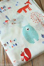 Bear Crossing Cartoon Cotton Fabric zakka kawaii DIY sewing cloth quilting craft