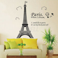 New Removable Effiel Tower PVC Art Decal Wall Sticker Room Home Decoration DIY