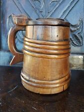 18th Century Scandinavian Antique Treen Tankard Dated 1777 Beer