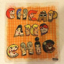 Moschino Cheap And Chic Scarf Multi Faces Orange Silk Made In Italy