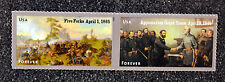 2015USA  #4980-4981 Forever Civil War 1865 Five Forks/Appomattox Horizontal Pair
