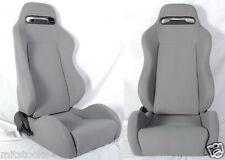 NEW 2 GRAY CLOTH RACING SEATS RECLINABLE + SLIDERS ALL BUICK ***