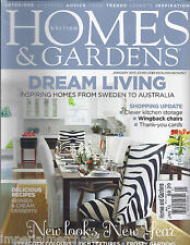 Homes and Gardens magazine Dream living Rich textures Recipes Peacock colors