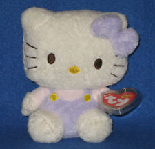 TY HELLO KITTY PURPLE FUZZY BEANIE BABY - MINT with MINT TAGS