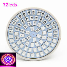 E27 72LED Hydroponic Plant Grow Light Panel Full Spectrum GardenGrowth Lamp 220V