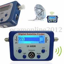 Digital LCD Satellite Finder Meter Signal Strength Dish Sat Directv w/ Compass
