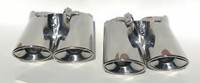 00-06 Mercedes W220 S-class chrome quad exhaust tip tips, Dual pipe