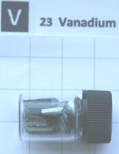 3 gram Vanadium metal 99.8% in glass vial - Pure element 23 sample