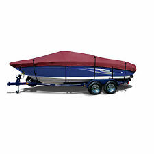 Lund WC 16 DLX Tiller Trailerable Fishing Jon Boat Cover Burgundy Maroon