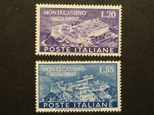 REPUBBLICA 1951 SERIE MONTECASSINO MNH** ENTRA ALTRE FOTO