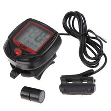 WATERPROOF DIGITAL BIKE BICYCLE LCD CYCLE COMPUTER ODOMETER SPEEDOMETER (5012)