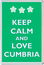 Keep Calm and Love Cumbria - Jumbo Fridge Magnet Novelty Gift/Present
