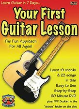 Learn to Play Guitar Your First Guitar Lesson (DVD, 2002) Guitar Course