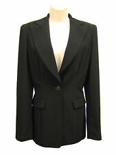GIORGIO ARMANI Black Label Blazer Jacket Black Wool Silk Lined Women 40 Italy