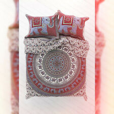 Indian Elephant Mandala Queen Size Duvet Covers Throw Quilt Cover Blanket Throw