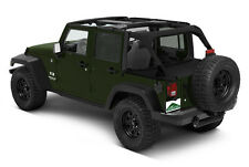 Pavement Ends Cargo Cover Protection 07-15 Jeep Wrangler Unlimited 4 Door Black