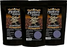 Dr Burnorium Psycho Set of 3 250g Ground Extra Strong Coffee Machine & Cafetiere