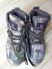 NEW Women's Game Winner Hunting Boots Waterproof Realtree Camo 6.5D Small NWT