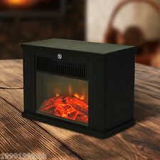 HOMCOM Electric 1000W Fireplace Fire Flame Stove Heater Heat Home Tempered Glass