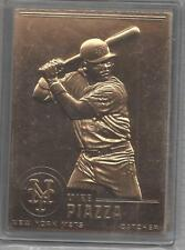 Mike Piazza 2000 Danbury Mint Sealed 22 kt Gold Card # 73