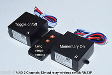 MSD 12V 20A 1ch on off & 1ch momentary relay long range wireless switch RM33P