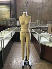 USED Female Full Size 6 Professional Working dress form Mannequin w/Leg #F6