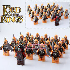 21PCS/Lot The Hobbit series Minifigures The Lord of the Rings Mordor Orc Fighter