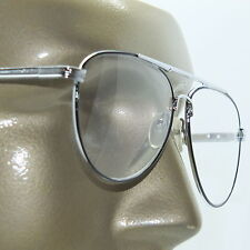 Reading Glasses +1.00 Lens Metal Aviator Frame Black Silver Man Size