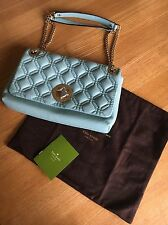Kate Spade Cynthia Astor Court Grace Blue Quilted Leather Shoulder Bag WKRU2650