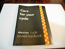 Vintage RALEIGH bicycle cycle handbook  Chopper etc NOS 1970s