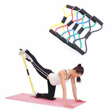 8 Shape Sport Yoga Latex Weight Pulling Rope Exercise Training Resistance Band