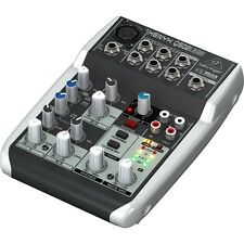 Behringer Xenyx Q502USB 5-Input 2-Bus Mixer 3 Band EQ USB Audio Interface