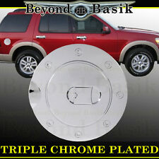 02-10 FORD EXPLORER Triple ABS Chrome Fuel Gas Door Cover Cap Overlay Trims