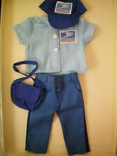 "NEW 18"" Doll Clothes USPS POST OFFICE WORKER 4 pieces fits AMRICAN GIRL DOLLS"