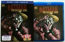 DC COMICS BATMAN THE KILLING JOKE BLU RAY DVD 2 DISC SET + SLIPCOVER SLEEVE
