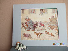 vintage illustration of Raggle Taggle Bear by Louis Moe 1929