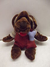 VINTAGE GANZ WRINKLES BOY DOG PUPPET W/BONE, COLLAR TAG, SHIRT & SHORTS OUTFIT