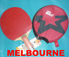 Short Pips-out + Pips-in DHS Table Tennis Paddle Bat Racket, w/Case, Melbourne