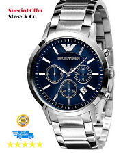 New Emporio Armani Men's Chronograph Classic Watch AR2448 100% Original