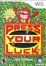 PRESS YOUR LUCK WII! FAMILY GAME PARTY NIGHT GAME SHOW! 50 DIFFERENT WHAMMY!